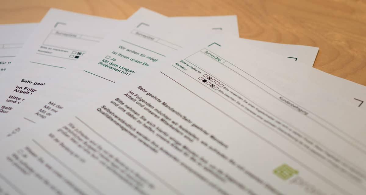 Klientenbefragung – Was wir tun, damit Sie zufrieden sind