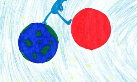 Der Welten-Hüpfer und der Planet mit  den wilden Turnschuhen